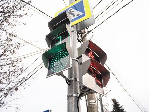 Светофорный объект в рамках нацпроекта установили в Солнечногорске