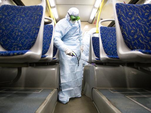Дезинфекцию общественного транспорта для защиты от коронавируса проводят в Солнечногорье