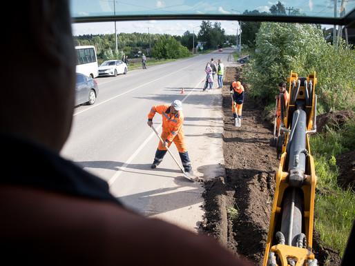 В Осипово оборудуют тротуар к остановочному комплексу