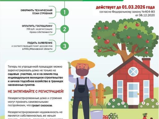 Солнечногорцы могут оформить дом в упрощенном порядке по «дачной амнистии»