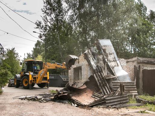 В Солнечногорске снесли ветхое нежилое здание