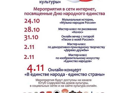 Онлайн мероприятия проведут в День народного единства в Солнечногорске