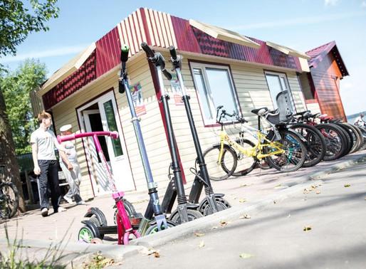 В Солнечногорске продолжает свою работу прокат велосипедов