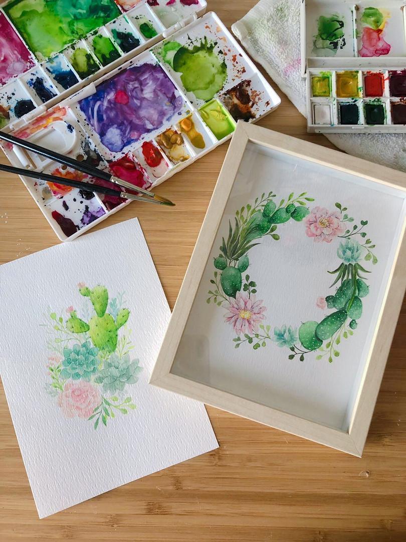 Succulent Watercolour