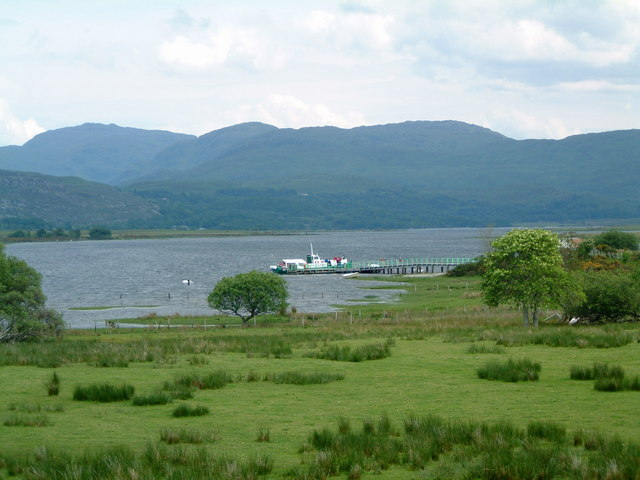 Acharacle Pier on Loch Shiel