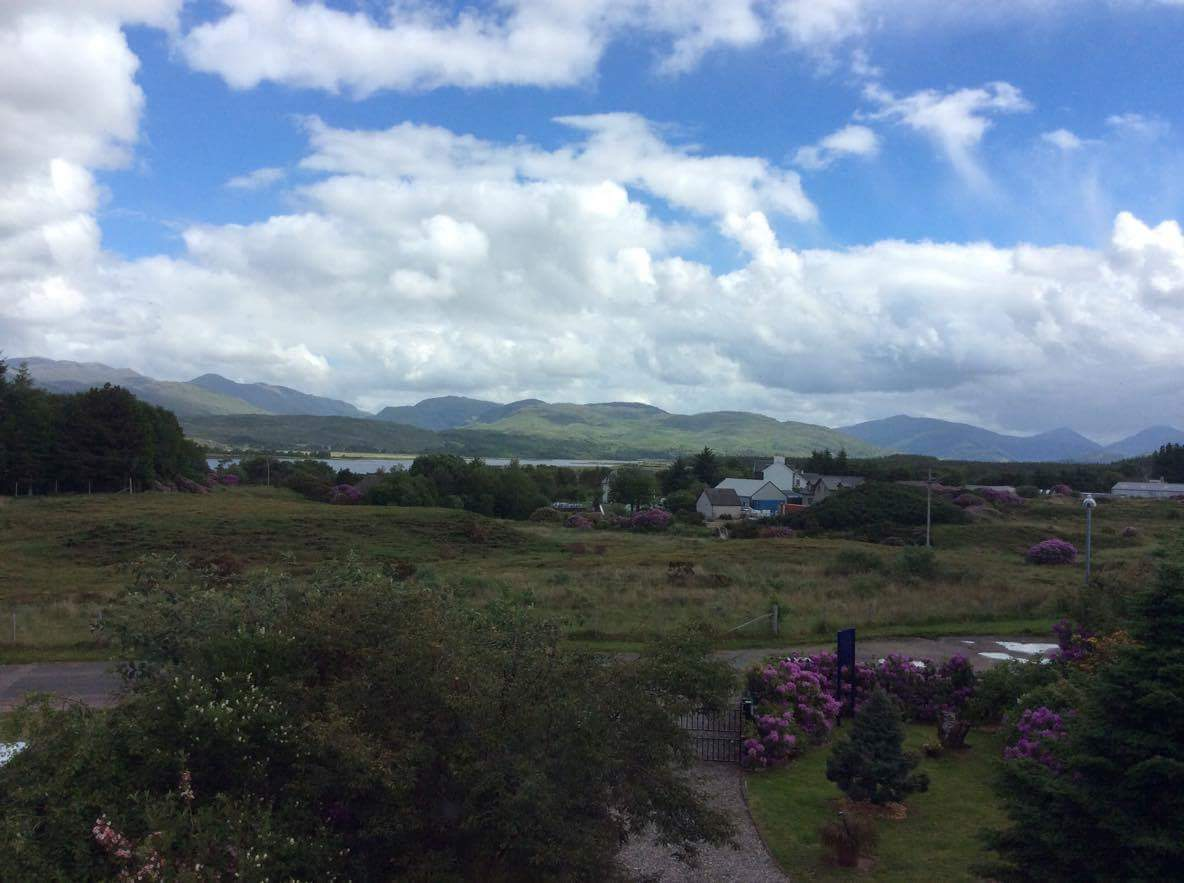 View from Loch Sunart Room