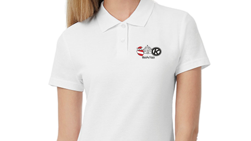 women Piqué Polo Shirt - bestickt