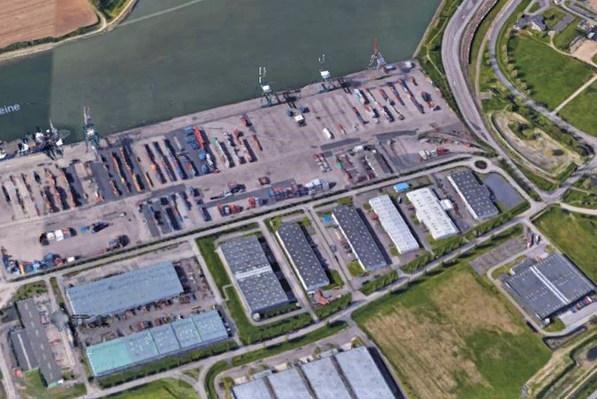 Entrepôts, terminal multimodal de Rouen