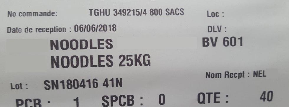 Orcos logistics - Fos - Étiquette code à barres