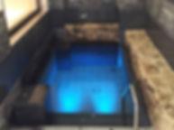 天然温泉 満月水中照明
