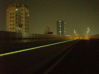 阪神高速道路 油小路 ライン照明