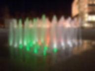 サンポート高松 噴水照明 アッパー照明