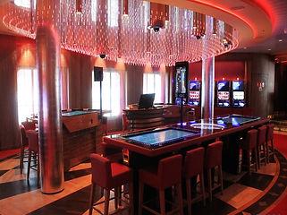 AIDAPRIMO カジノ  ファイバーカーテン照明