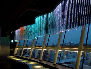シティプラザ大阪 ファイバーカーテン照明