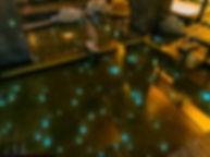 竜泉寺の湯 草加谷塚店 ほたる 星空水中照明