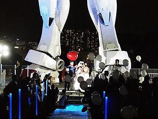 ガンダム挙式 イベント照明