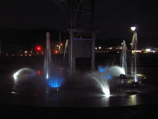 枝川公園 下池噴水水中照明