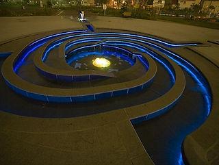 昭和公園 水中ライン照明