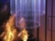 S邸 ファイバーカーテン照明