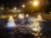 東京サマーランド 噴水照明 アッパー照明