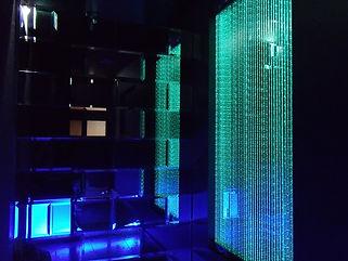 グランジュールエントランス ファイバーカーテン照明