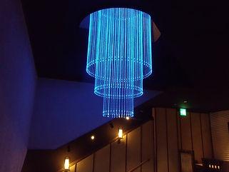ダイニング光 ファイバーカーテン照明