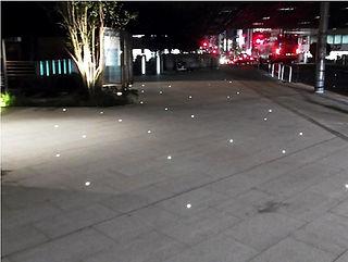 大手町遊歩道 星空照明 埋設照明