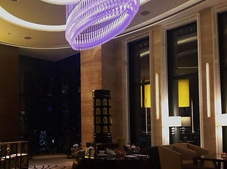 インターコンチネンタルホテル大阪 ファイバーカーテン照明