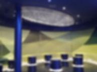 AIDAPRIMO ディスコ ファイバーカーテン照明