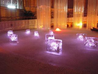 氷と光のアート イベント照明