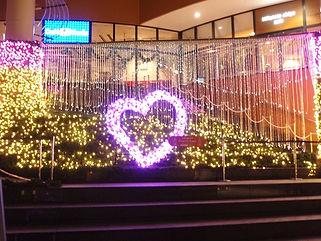 ららぽーと船橋 階段広場2010 ファイバーカーテン照明