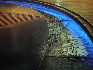 遊歩道2 水中ライン照明