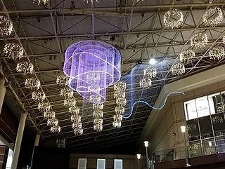 鹿児島アミュプラザ ファイバーカーテン照明