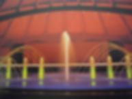 浜山公園 噴水照明 アッパー照明