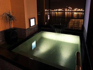 湖南荘 客室露天風呂 水中照明