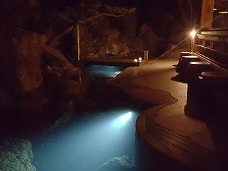 縄山 散歩道水中照明