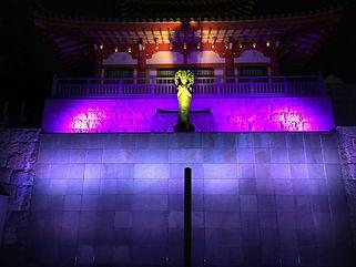 八事興正寺 イベント照明