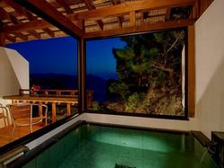 堂ヶ島ホテル天遊 客室露天風呂