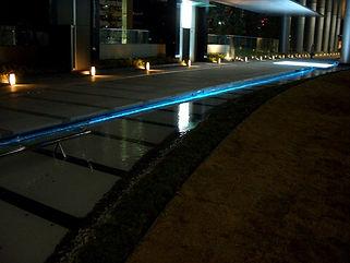 大崎駅 水中ライン照明