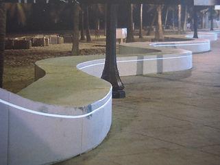 海浜公園 埋設 ライン照明