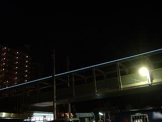 仁川駅 ライン照明