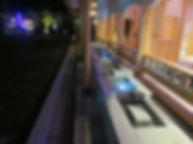 芦湯 源泉水路 噴水照明 アッパー照明