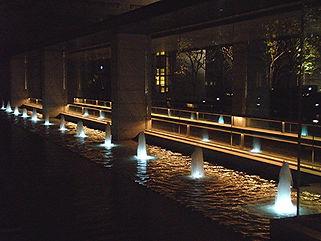 京都エクシブ エントランス噴水水中照明