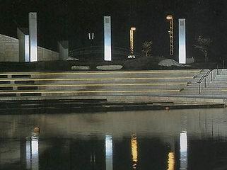 鳥屋野潟公園 ライン照明