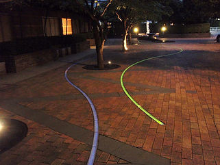 青山パークタワー 埋設 ライン照明