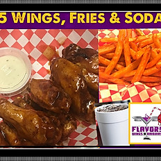5 Wing, Lunch Combo