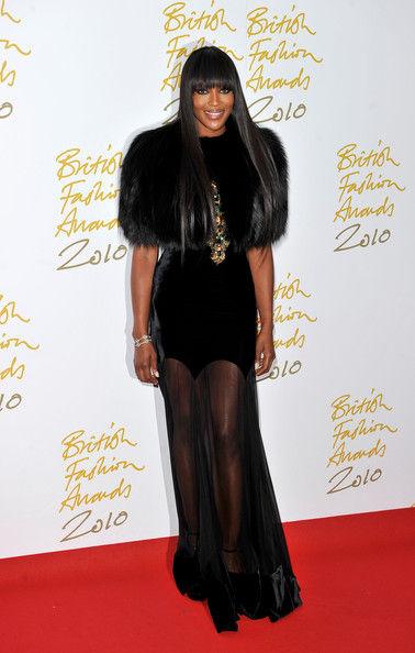 Naomi+Campbell+Dresses+Skirts+Evening+Dr