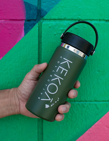 HYDRO FLASK 16 OZ WIDE MOUTH - OLIVE -