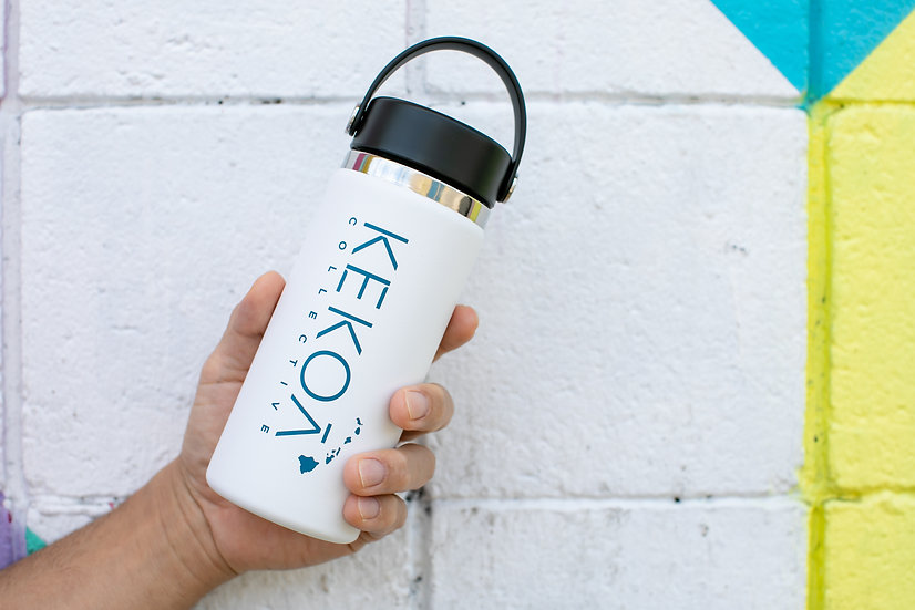 HYDRO FLASK 16 OZ WIDE MOUTH - WHITE -