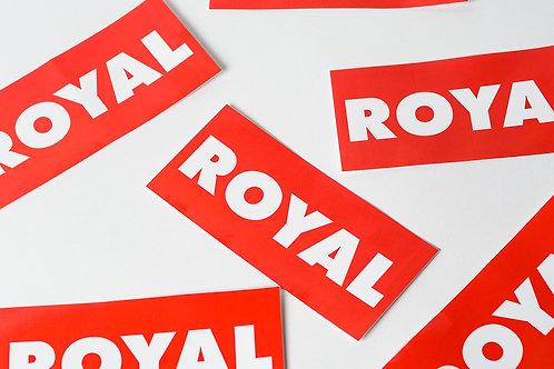 Royal SNA: Block Logo sticker pack (3 pack)